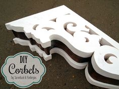 Make your own DIY Corbels! It's MUCH easier than it looks. {Sawdust and Embryos}