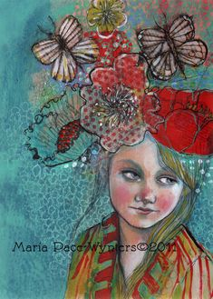 Maria Pace-Wynters, Mixed Media Painting on wood, 2011: Dreaming-Of-You
