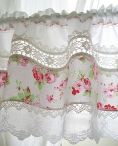Curtains made of vintage lace