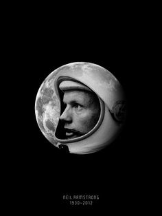 Just a little tribute to the Man on the Moon Neil Armstrong | design by AJ Dimarucot