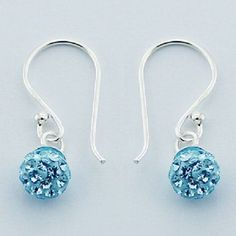 Hallmarked 925 Silver with 6mm Tiny Light Blue Czech Crystal Spheres New Fashion OUR PRICE ONLY $15.95aus FREE WORLD SHIPPING ...SAVE THIS PIN  OR BUY NOW FROM LINK HERE.........  http://www.ebay.com.au/itm/-/172276831572?ssPageName=ADME:L:LCA:AU:1123