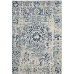 Willa Arlo Interiors Huma Oriental Blue/Ivory Area Rug Rug Size: Rectangle x Color Ivory, Blue Ivory, Color Blue, Transitional Rugs, Accent Rugs, Throw Rugs, Joss And Main, Interiores Design, Blue Area Rugs