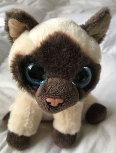 TY Classic Plush - JADEN the Siamese Cat (9.5 inch) - Stuffed Animal Toy 26d0c66f3544