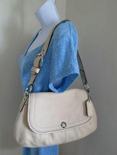 COACH Soho Pleated Light Beige Pebbled Leather Flap Shoulder Bag Purse  | Clothing, Shoes & Accessories, Women's Handbags & Bags, Handbags & Purses | eBay!