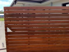 Timber Slat Gates , Cannonvale, Airlie Beach | Fencing Queensland Chainmesh Security Substations Timber Slats, Gate Ideas, Airlie Beach, Front Fence, Home Reno, Fencing, Outdoor Ideas, Gates, Swimming Pools