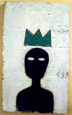 """16f040118bf94 Reposting """"Although Basquiat filled his work with recurring symbols, his  crown is perhaps best known. It tops figures he respected or admired."""