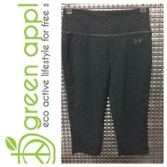 Green apple grey Capri yoga Size small new without tags Green apple Pants Capris