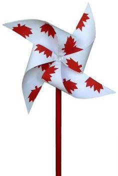 DIY Canada Day Pinwheel Craft with printabe template Canada Day 150, Canada Day Party, Happy Canada Day, Canada Canada, Toronto Canada, Art For Kids, Crafts For Kids, Arts And Crafts, Diy Crafts