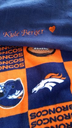 Embroidered Blankets, Personalised Blankets, Broncos