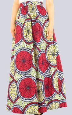 Maxi Skirt Tribal Print Skirt Long Skirt Colourful by COLUFashion