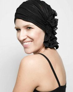 As an alternative to turbans and wigs, we are proud to offer our clients Chemo Beanies. Featured in the photo is the Angelle style Chemo Beanie, a customer favorite! #Knoxville #TN #Cancer #Hairloss #BreastCancer #Chemo
