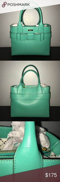 Kate Spade Villabella Avenue Quinn Bag Kate Spade Villabella Avenue Quinn Bag. Gorgeous shade of green. New with tags. Slight mark on handle on back side of bag (see picture), barely noticeable. Multiple inner pockets. Such a classic piece! kate spade Bags Satchels