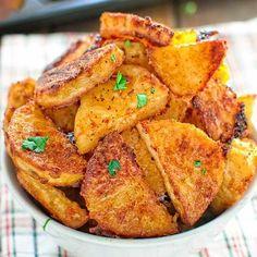 Parmesan Crusted Potatoes - COOKTORIA.COM
