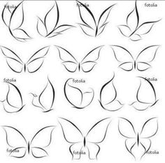 Doodle art design tattoos 32 ideas for 2019 Nail Art Modele, Nail Art Dessin, Butterfly Nail Art, Butterfly Logo, Simple Butterfly Drawing, Butterfly Nail Designs, Butterfly Tattoos, How To Draw Butterfly, Colorful Butterfly Tattoo