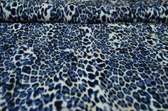 Riflovina modrý zvířecí motiv