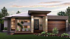 House facade design single story 44 Ideas for 2019 Contemporary House Plans, Modern House Plans, Modern House Design, Suburban House, Modern Bungalow, Facade House, House Facades, Dream House Exterior, Facade Design