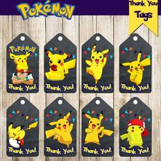 SPECIAL OFFER After listing purchase you automatically receive the coupon on the following purchase of 20% DISCOUNT for the sum from $6. You will be able to use it at any time. The code of the coupon will come to you to e-mail after the first purchase. Pokemon Thank You Tags is perfect birthday decoration for your party! WHAT YOU GET: -digital item - no physical item will be shipped -8 individual Thank You Tags -1 JPG Files with 8 Thank You Tags -This is a printable digital image file…