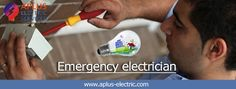 We are telling you about emergency time at home when you found any failure in electric equipment. This is one of the wonderful ways regarding Emergency electrician; this is wonderful way to take help of best electricians at emergency time. You can immediately do booking at aplus-electric.com; because we have well expert electricians.