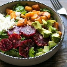 Roasted Butternut Squash And Blood Orange Salad - Cooking LSL Entree Recipes, Raw Food Recipes, Dinner Recipes, Cooking Recipes, Healthy Recipes, Fish Recipes, Recipies, Orange Salad, Fries Recipe