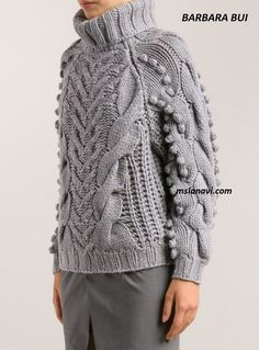 Свитер из толстой пряжи от BARBARA BUI - Вяжем с Лана Ви Knitting Wool, Hand Knitting, Knitting Patterns, Knitwear Fashion, Knit Fashion, Beginner Crochet Tutorial, Hand Knitted Sweaters, Unique Outfits, Preppy Style