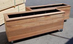 plantenbakken - van dorp hout, wel schilderen! of zelf laten maken!
