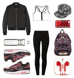 """#Street Style: Sporty"" by sandycyh ❤ liked on Polyvore featuring Mode, T By Alexander Wang, Moschino, NIKE, PhunkeeTree, Sagaform und Valentino"