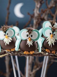 Adorable Owl Cake Pops