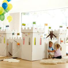 The Land of Nod's Kardboard Kingdom ($79) is made entirely of cardboard and features ample space for kids to play, including an interior play space, courtyard, tunnels, and turrets, all of which can be colored and decorated.