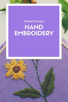 Classes to Learn how to Embroider - Hand Embroidery for Beginners Telas  Estampadas be11696b021