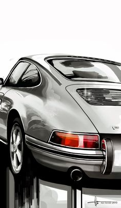 The Porsche 911 is a truly a race car you can drive on the street. It's distinctive Porsche styling is backed up by incredible race car performance. Porsche 911 Classic, Porsche 356, Porsche Cars, Porsche Carrera, Bmw Autos, Vintage Porsche, Mercedes Benz Cars, Car Sketch, Porsche Design