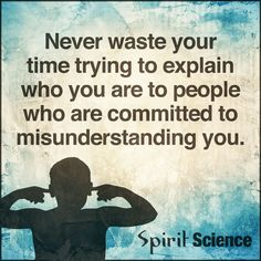 Negative People Quotes Never waste your time trying to explain who you are to people who are committed to misunderstanding you.