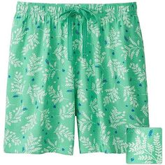UNIQLO Relaco Shorts (Leaf) ($6.42) ❤ liked on Polyvore featuring shorts, relaxed shorts, rayon shorts, draw string shorts, relaxed fit shorts and uniqlo shorts