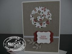 Stampin' Up! Scallop Circle punch, Bird Builder punch, Decorative Label punch, Curly Label punch, Petite Pairs stamp set