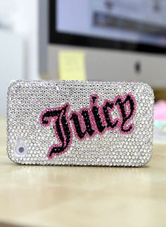 Silver JUICY Design Bling Samsung Galaxy Note 2 case accessories glitter Phone covers for girls