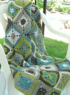 Granny-Square Blanket