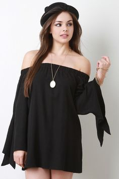 Off-The-Shoulder Long Sleeves Top