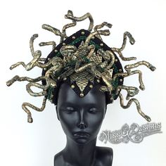 https://instagram.com/p/7qvPM4ACqV/?taken-by=missgdesigns MEDUSA MEDUSA HEADDRESS SNAKE SNAKES HEADPIECE CROWN SCALES MISS G DESIGNS