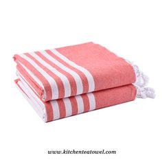 Wholesale 100% Cotton Embroidered Strip Yarn Dyed Turkish Towel