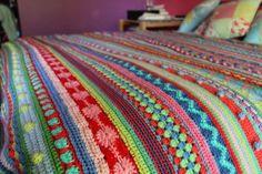 little woollie: CAL Mixed stitch stripy blanket #2 - tadah