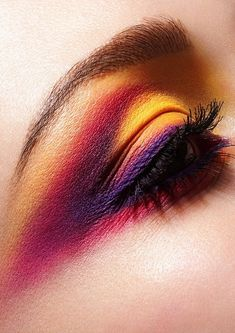 yellow purple pink eyeshadow pictures