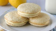 We added the zesty flavors of lemons to Betty Crocker sugar cookies and frosting for our sweet and tart Lemon Whoopie Pies.