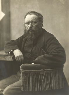 "Nadar Pierre-Joseph Proudhon, Paris c.1850 ""I build no system. I ask an end to privilege, the abolition of slavery, equality of rights, and the reign of law. Justice, nothing else; that is the alpha and omega of my argument: to others I leave the..."