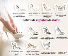 Tipos de zapatos de novia para la boda #novia #zapatos #boda #look #fashion