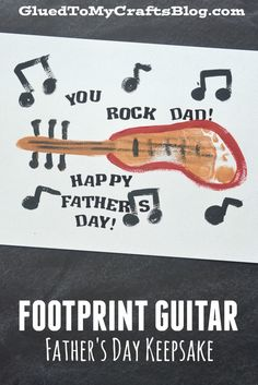 Footprint Guitar Keepsake Idea