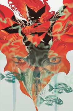 """Batwoman """"Hydrology"""" Vol. 1 cover; art by J.H. Williams III."""