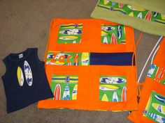 Swimming bag, tank tee and matching towel.