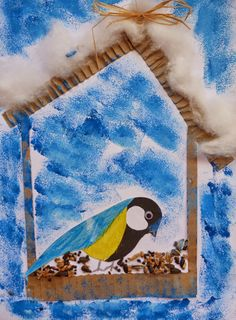Зимние поделки vögel winter art, winter crafts for kids und spring crafts. Winter Art Projects, Winter Crafts For Kids, Winter Kids, Spring Crafts, Winter Christmas, Art For Kids, Christmas Crafts, January Crafts, Bird Crafts