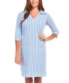 This Blue Maisie Hamilton Dress is perfect! #zulilyfinds