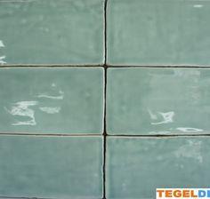 Friese witjes, Jade, 7,5x15 cm á 42,50, handvorm wandtegel | Wandtegel handvorm, Jade / groen, 7,5x15 cm, replica Friese witjes