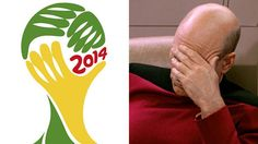 Cannot Unsee: World Cup Brazil Logo Is A Facepalming Captain Picard - OhGizmo!
